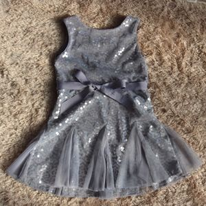 Cherokee Girls' Grey Party Dress